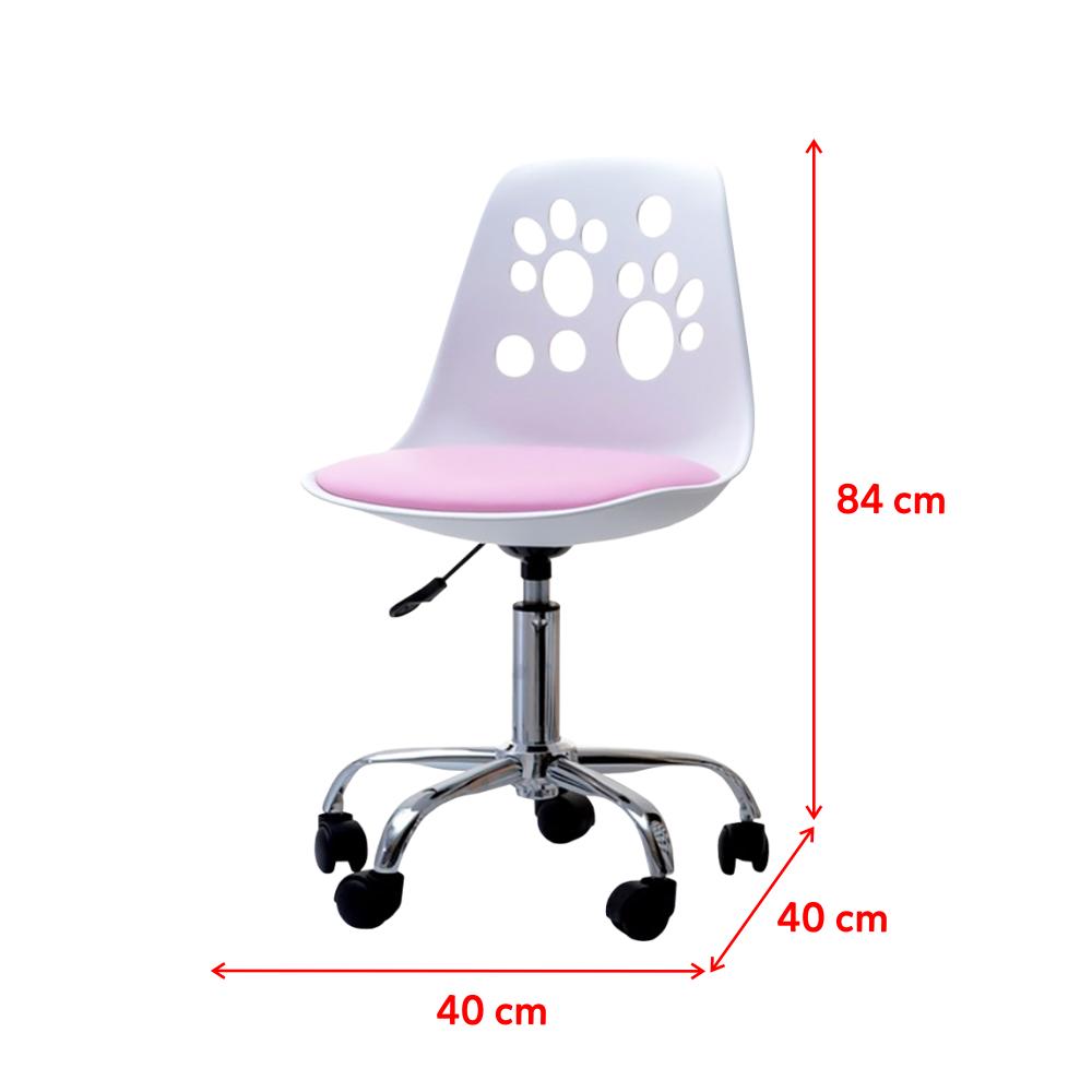 Fauteuil de bureau enfant / Chaise de bureau enfant - FOOT - 6 cm