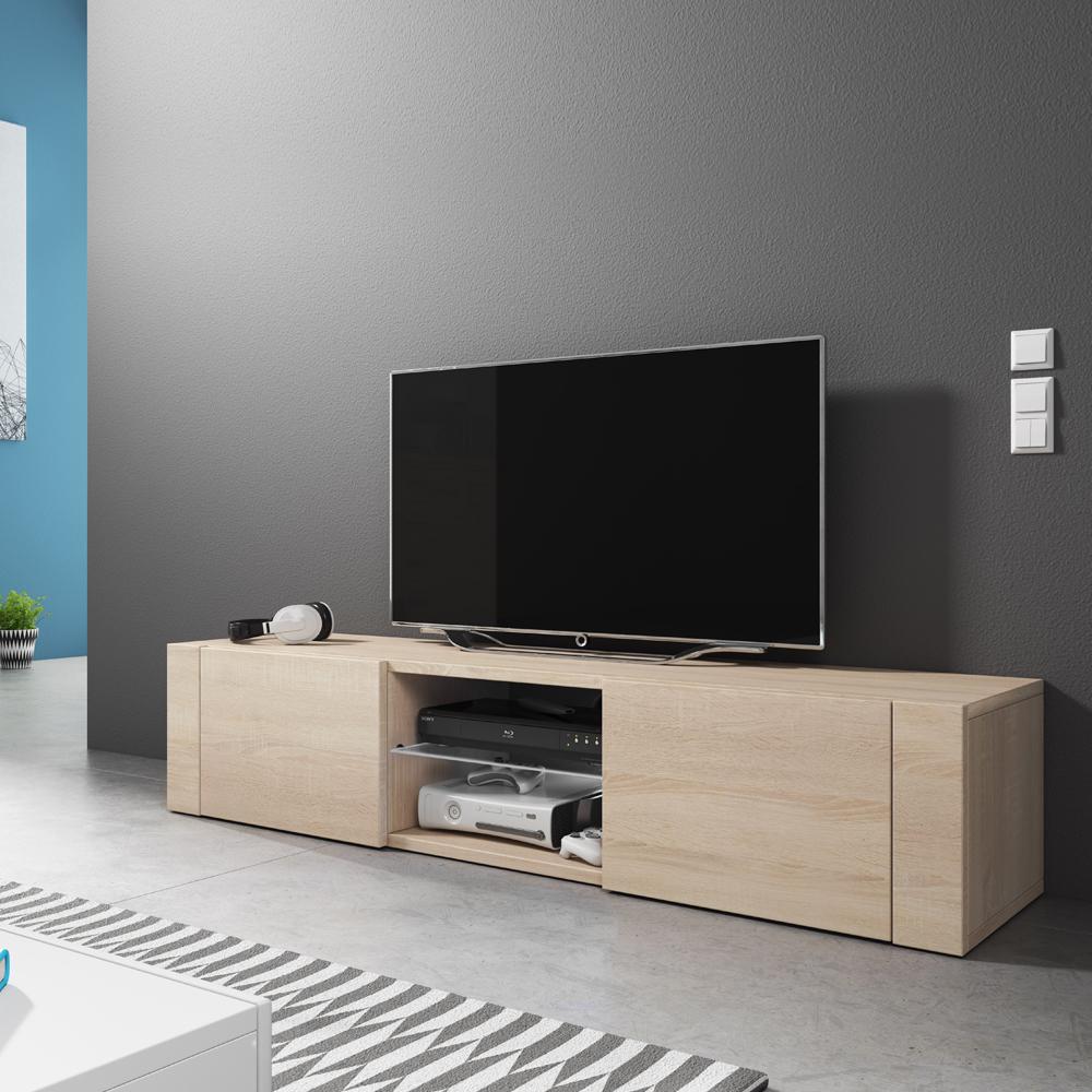 Meuble Tv Pour Coin meuble tv / meuble de salon - ÉlÉgant - 140 cm - effet chêne