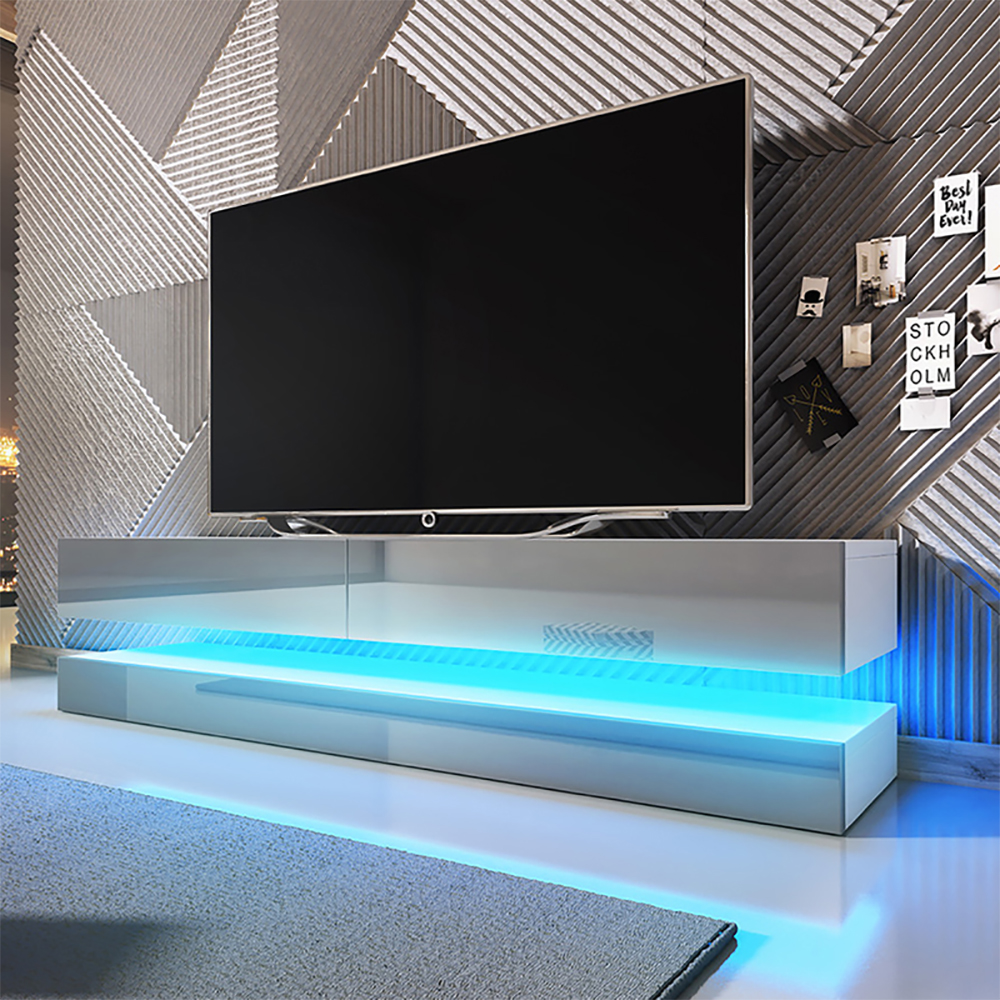 Floating TV Stand AVIATOR TV Cabinet TV Unit with LED Option 140 cm in Colours